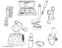 Makeup Coloring Pages Make Up Tools Free Printable Coloring Pages