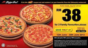 pizza hut menu 2013.  Pizza Pizza Hut Promotion U2013 3 Regular Family Favourites Pizza For RM38 Ends 30th  June On Menu 2013