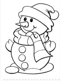 christmas drawing outline. Fine Christmas Snow Man Christmas Coloring Sheets For Kids Drawings  Printable Drawing Outline T