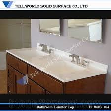 custom vanity tops solid surface bathroom countertop with undermout sink