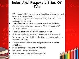 professionalism 6 major responsibilities of teachers teacher aides job description