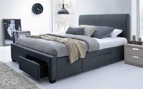 Jersey Queen Storage Bed Frame  Dark Grey
