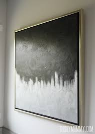 Diy Canvas Painting 13 Diy Silver Black Modern Canvas Art From A Thrifted Painting