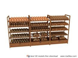 Bakery Display Stands Wood Bakery Display Shelf 100d Model 100DMax Files Free Download 74