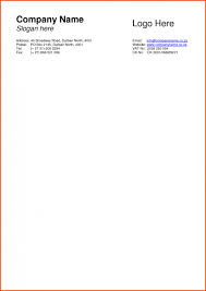 Template Company Letterhead Examples Of Company Letterhead Template Sample Business Letters Free