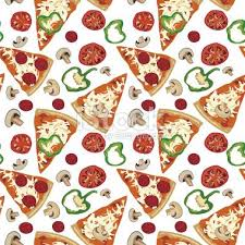 repeating pizza background. Perfect Background Pizza Pattern To Repeating Background