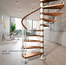 nova spiral staircase kit 1200mm 1400mm and 1600mm diameters with continuous handrail