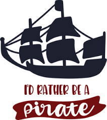 I'D RATHER BE A PIRATE Logo Vector (.EPS) Free Download