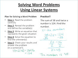 systems linear equations powerpoint