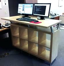 diy sit stand desk bar diy sit stand desk legs
