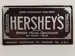 hershey candy bar wrapper 1930s vintage hersheys milk chocolate candy bar wrapper five cents