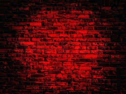 red wall texture old black red vintage brick wall texture background with darker vignette stock photo
