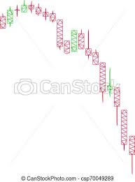 Candlestick Falling Acceleration Chart Polygonal Frame Vector Mesh Illustration