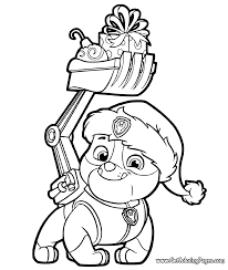 Rubble Paw Patrol Coloring Page At Getdrawingscom Free For