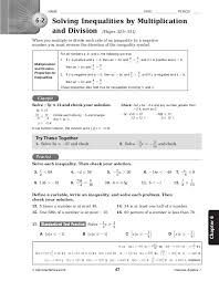 solving inequalities with multiplication and division worksheet