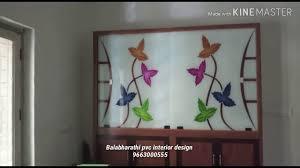 Flower Design Glass Door Balabharathi Interior Hosur Kirshnagiri Bangalore Modular