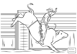 Small Picture Cowboy Riding a Bull rodeo activities rodeo coloring pages