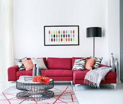 beautiful sofa living room 1 contemporary. View In Gallery Exquisite Dark Red Sofa Brings Vivaciousness To The White Living Room [From: Alex Maguire Beautiful 1 Contemporary A