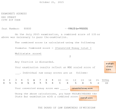 Bar Exam Essays What Your Michigan Bar Exam Score Report Means Jd Advising