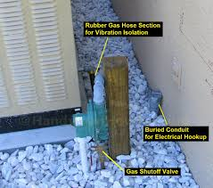 whole house standby generator whole house generator gas line regulator and shutoff valve