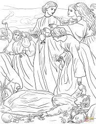 Tien Maagden Gelijkenis Kleurplaat Gratis Kleurplaten Printen