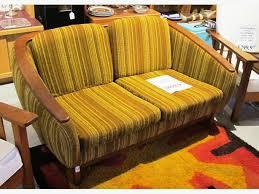 Modern Furniture Designer New Mid Century Modern Teak Designer RHuber Love Seat I48