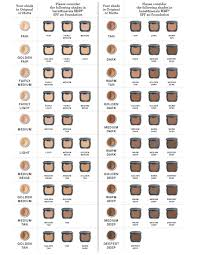 Bareminerals Original Foundation Colour Chart Bare Minerals Ready Foundation Color Chart In 2019 Farben