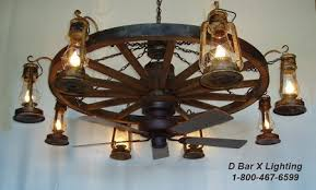 wagon wheel lighting fixtures.  Wheel WW037608FAN  Rustic Wagon Wheel Chandelier Light Fixture With Lantern On Lighting Fixtures