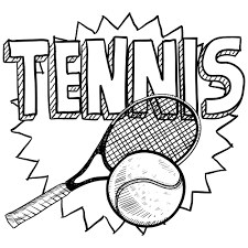 Tennis Coloring Page P2k2 Sports Drawings Tennis Tennis Crafts