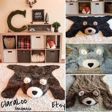 bear rug for nursery woodland nursery baby bear rugs by faux bear rug nursery