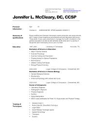 Medical Resume Format Printable Template Word Sample Cv Templates