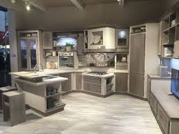 clear glass cabinets door gray white wooden kitchen ideas 2 backless bar stools solid surface countertop open floating shelves