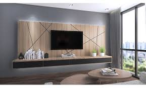 TV console with feature wall. Order this console at Recommend.my