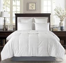 luxury baffle box white down comforter 600 thread count 650 fill power duvet insert white com