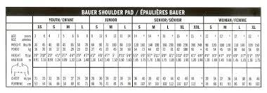 8 Follow Bauer Shoulder Pad Sizing Chart