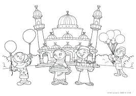 Free Printable Islamic Coloring Pages Colouring Muslim Licious