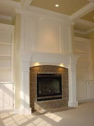 white trimmed rectangular fireplace - Google Search   family room    Pinterest   White trim, Google and Searching