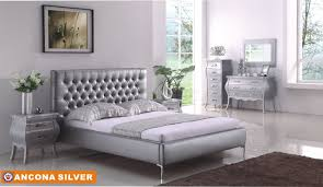 Silver Furniture Bedroom Ancona Bedroom In Silver Tone By American Eagle W Options
