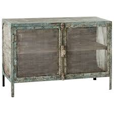distressed industrial furniture. distressed industrial two doors turquoise cabinet furniture d