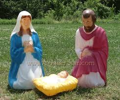 believe holy family outdoor nativity set designs