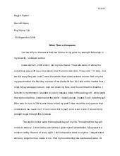 visual narrative essay revision