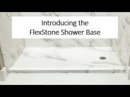 flexstone shower base