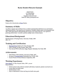 Nursing Student Resume Summary Nursing Student Resume Sample