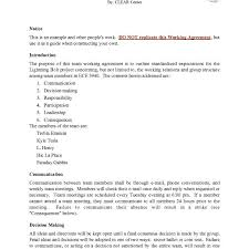 10 Best Images Of Working Agreement Sample – Sample Work Contract ...