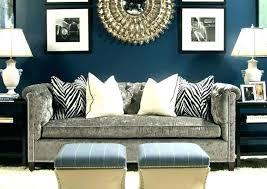 navy blue brown living room grey