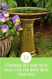 14 stunning diy bird bath ideas you can make with your kids ideas