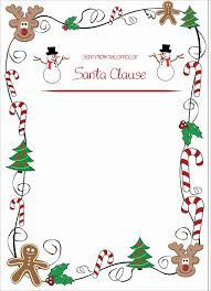 Santa Letter Template Word Doc Santa Letterhead Word Document Santa