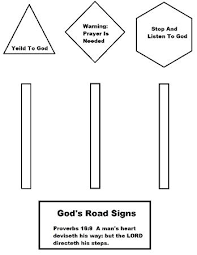 Small Picture Gods Road Signs Lesson