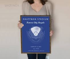 Royals Stadium Seating Chart Kauffman Stadium Kansas City Royals Kauffman Stadium Seating Chart Gift For Royals Fan Vintage Royals Gift For Him Under 30 Kc Royals