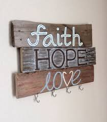 ... Decorative Key Holder For Wall Key Holder Faith Hope Love Painted Key  Holder